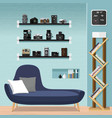 living room furniture-sofa vector image