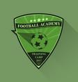 soccer logo design football logotype in flat vector image