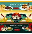 Mexican cuisine menu banners with authentic food vector image