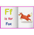 A picture of a fox in a book vector image vector image