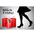 Black Friday sale background with elegant shopping vector image