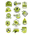 olive oil product icons isolated set vector image
