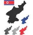 north korea map vector image vector image