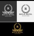 Royal hotel logo set vector image