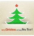 Christmas tree and snow card vector image