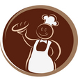 bakery chef vector image vector image