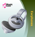 music earphone vector image vector image