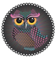 Pink and Blue Color Owl2 vector image