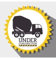 Under construction graphic advertising vector image