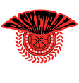 Basketball Badge with Stars vector image