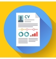 CV resume icon Modern flat 20 style vector image