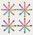 circle of crayons vector image