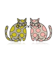 Cute art cats for your design vector image