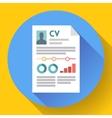 CV resume icon Modern flat 20 style vector image