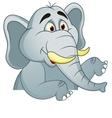 Elephants cartoon with blank sign vector image