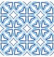 flower pattern blue beads boho background vector image