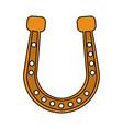 golden horseshoe icon image vector image