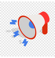 loudspeaker isometric icon vector image vector image