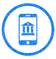 mobile bank rounded grainy icon vector image