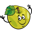 funny apple fruit cartoon vector image vector image