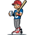 Baseball Player With Drink vector image vector image
