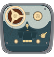 The old reel to reel audio tape recording vector image