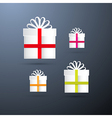 Present Boxes Set vector image vector image