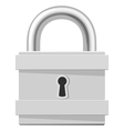 Metal padlock isolated on white background vector image