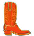 Cowboy boot symbol vector image vector image
