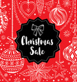 Christmas sale invitation flyer with graphic vector image