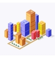 isometric town vector image
