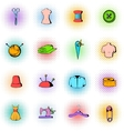 Tailor elements icons set comics style vector image