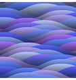 Blue abstract waves vector image