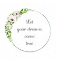 flower bouquet wreath garland crown of flowers vector image