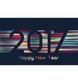 Happy New Year 2017 background Calendar template vector image