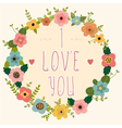 I love you Postcard vector image