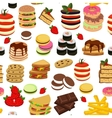 Meal Tower Seamless Pattern vector image