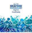 Seafood Background Menu vector image