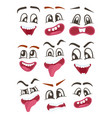 smiley faces with different facial expressions vector image