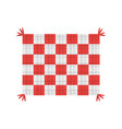 tablecloth blanket picnic image vector image