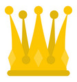 kingly crown icon isolated vector image