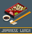 japanese sushi set concept vector image