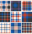 set of tartan seamless pattern vector image
