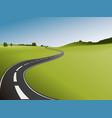 Road vector image vector image