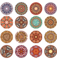 Round Ornament Pattern collection vector image