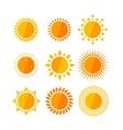 sun flat set vector image