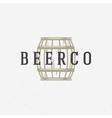 Beer barrel logo or badge design element vector image