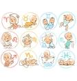 Baby zodiac Horoscope sighns as cartoon kids vector image