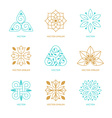 set of logo design templates and symbols vector image vector image
