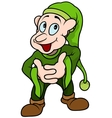 Green Elf vector image vector image